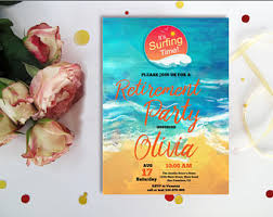 Beach Themed Retirement Party Invitations Printable Digital