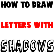 How to Draw 3D Letters with Shadows Following Patterns How to
