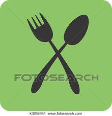 Drawing Spoon and fork Fotosearch Search Clip Art Illustrations Wall Posters