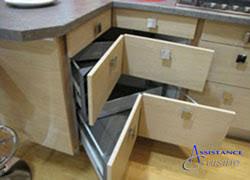 meuble cuisine angle meuble d angle cuisine à tiroirs