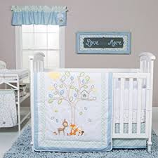 Amazon Trend Lab Forest Tales 6 Piece Crib Bedding Set