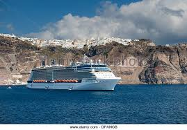 Cruise Ship Sinking Santorini by A Greek Ship Stock Photos U0026 A Greek Ship Stock Images Alamy