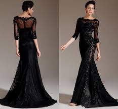 black prom dresses with lace sleeves naf dresses
