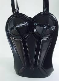 rare 1998 jean paul gaultier black leather bustier corset shoulder
