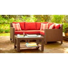 Hampton Bay Patio Furniture Cushion Covers by Hampton Bay Beverly Patio Sectional Middle Chair With Cardinal