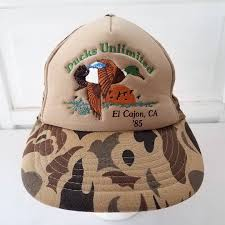 Ducks Unlimited Camo Snapback Hat Cap Hunting Foam El Cajon 1985 ...