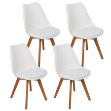 8er set design esszimmerstuhl kunstleder weiß polstersessel loungesessel stuhl küche esszimmer
