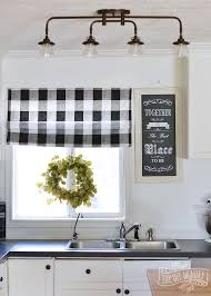 Inexpensive Kitchen Curtains Best 25 Buffalo Check Ideas Gingham Black And White Bedroom