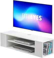 fitueyes wohnwand tv board hängend lowboard hängeschrank