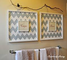 Yellow And Gray Chevron Bathroom Accessories by Bathroom Wall Art Bathroom Wall Art Walls And Frames Ideas