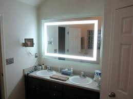 lighted makeup mirror wall mounted hardwired medium size of
