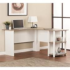 amazon com ameriwood home dakota l shaped desk with bookshelves