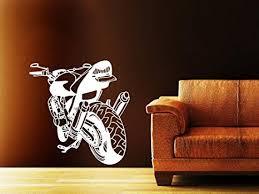 wandtattoo motorrad jugendzimmer wanddekoration wohnzimmer sport 104x100cm 958 baby doll
