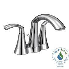 Home Depot Bathroom Faucets Chrome by Moen Glyde 4 In Centerset 2 Handle Bathroom Faucet In Chrome 6172