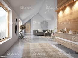 modernes wohnzimmer mit sofa und pflanzen stockfoto und mehr bilder architektur