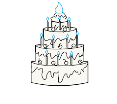 How to Draw a Cake Step 10