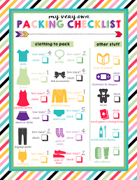 Free Printable Childrens Travel Packing List