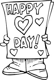 Valentines Day Card Coloring Page