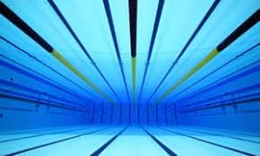 An Underwater View Of The Olympic Swimming Pool At Aquatic Centre In London
