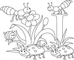 Free Spring Coloring Pages