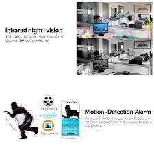 Mini HD Cam Wireless Motion Activated Security Camera Wide View