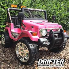 100 Kids Electric Truck Jeep For Kids Pink Ride On Electric Jeep The Drifter