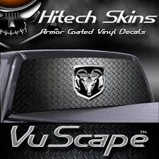 100 Back Window Decals For Trucks Amazoncom VuScapes Dodge Ram D Plate Rear Truck