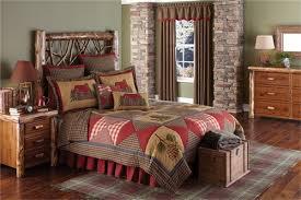log cabin quilt rustic queen bed quilt park designs