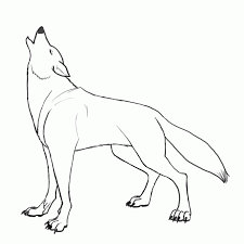 Coloring Pages A Wolf Howling