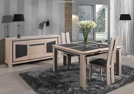 salle à manger contemporaine en chêne massif et céramique salle à