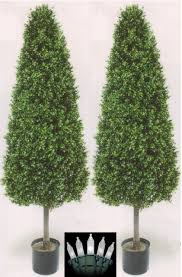 Lighted Cone Trees Fake Boxwood Topiary Cone Boxwood