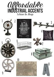 Affordable Industrial Accents And Where To Shop