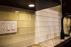 beveled glass subway tile backsplash home design ideas