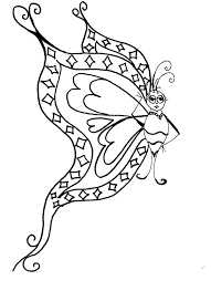 Labeled Butterfly Coloring Pages