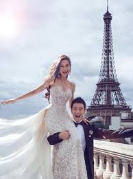 Angelababy And Huang Xiaoming In Paris For Their Pre Wedding Day Shoot