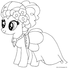 Pinkie Pie My Little Pony Coloring Pages Printable