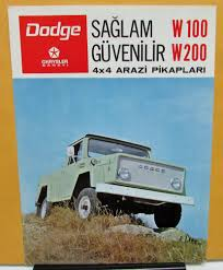 1973 Chrysler Sanayi Dodge Truck W100 200 Foreign Dealer Brochure ...