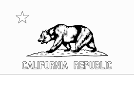 Drawn Grizzly Bear California State Flag