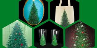 Adult Open Paint Pick Your Own Christmas Tree Canvas Wood Glasses