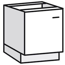 meuble cuisine bas 60 cm bas 1 porte bali blanc l 60 x h 82 x p 57 6 cm brico