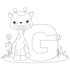 Animal Alphabet Letter G Is For Giraffe Heres A Simple Coloring Pages Of Letters In The