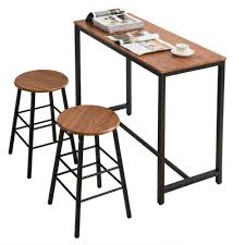 Brown 3 Piece Bar Stool Dining Kitchen Counter Height Chair ...