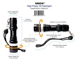 simon brands introduces the high power led flashlight t6 pro with