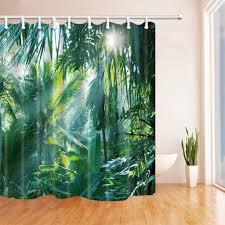 abphqto sonnenschein in den tropischen regenwald bananenblätter polyestergewebe badezimmer duschvorhänge duschvorhang bad vorhang 165x180 cm
