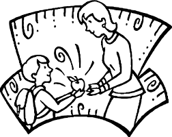 Apple Gift For Teacher Coloring Page