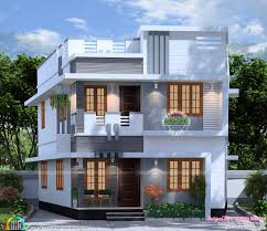 100 Home Designed 1300 Square Feet 4 Bedroom House Plan Kerala Home Design