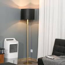homcom stehle stehleuchte für wohnzimmer schlafzimmer büro schwarz metall