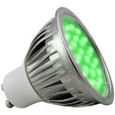 5 watt green dimmable gu10 led light bulb