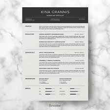 Resume Bundle V4 Professional Resume Template CV Template Etsy