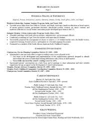 Early Childhood Teacher Resume RESUME Examples Downloadable For